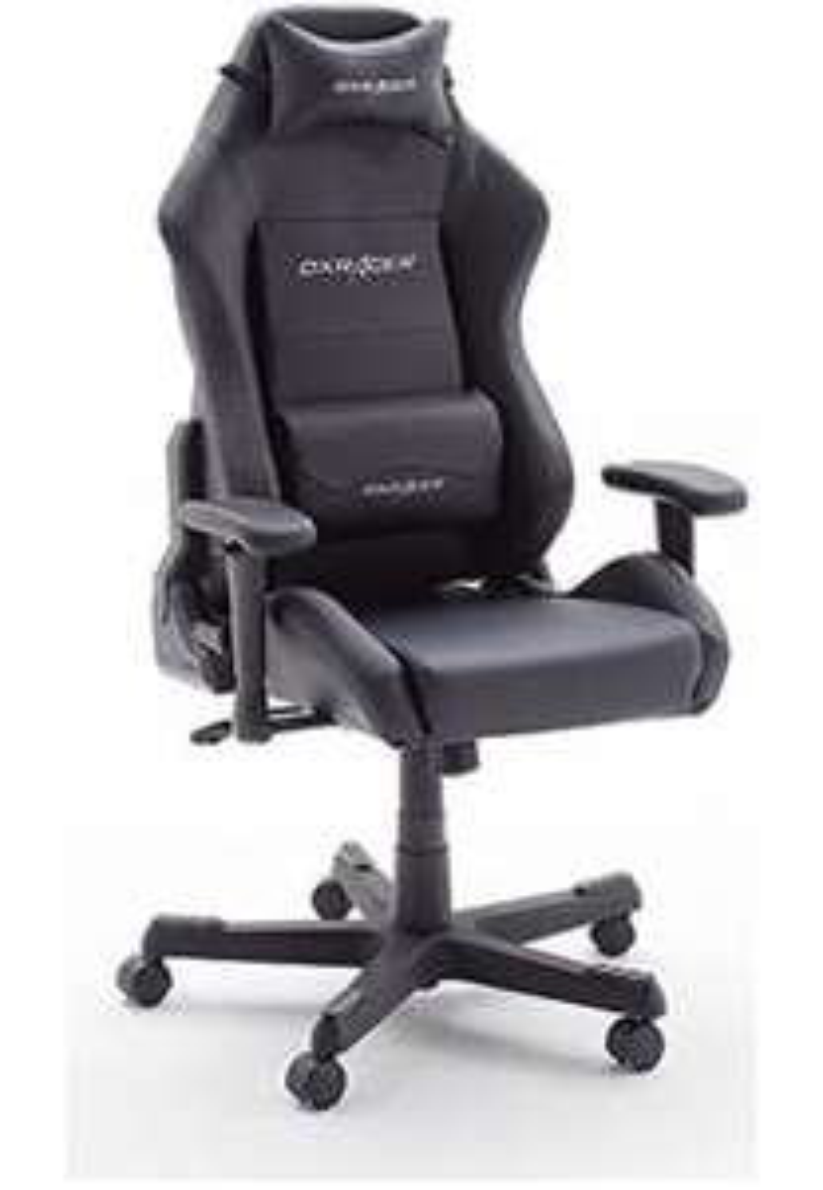 DX Racer 3 Gamingstuhl/Schreibtischstuhl/Bürostuhl, schwarz, 74 x 117-127 x 50 cm, 62503SN6