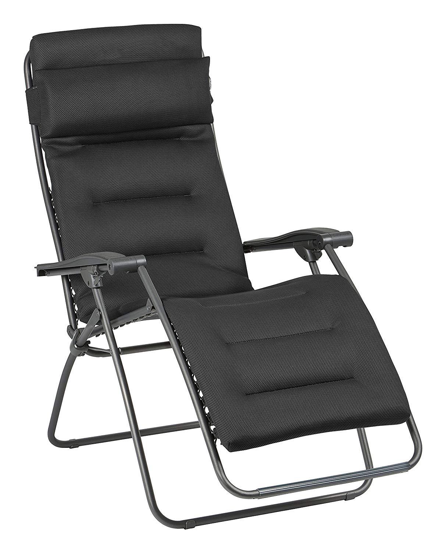 Lafuma Air Comfort Relax-Liegestuhl Anthrazit [Prime Day] (nur Prime Kunden)