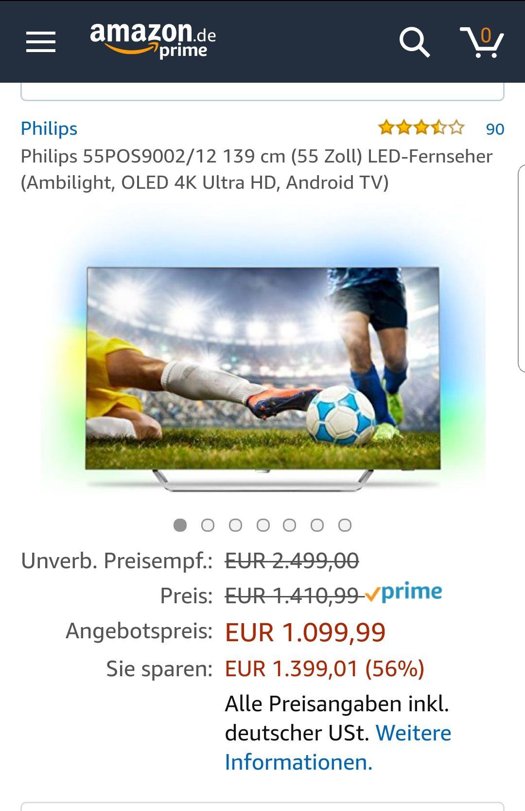 Amazon Prime Day Philips 55POS9002/12