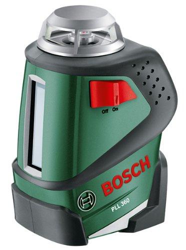 [amazon prime]  Bosch Linienlaser PLL 360 (selbstnivellierend, mit Universalhalterung, Arbeitsbereich 20 m, im Karton)