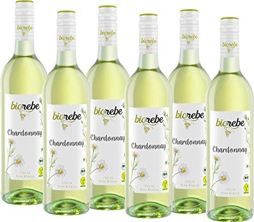 BIOrebe Chardonnay Weißwein trocken (6 x 0.75 l) [Bio-Chardonnay am Prime Day] (Stückpreis: 2,49 EUR)