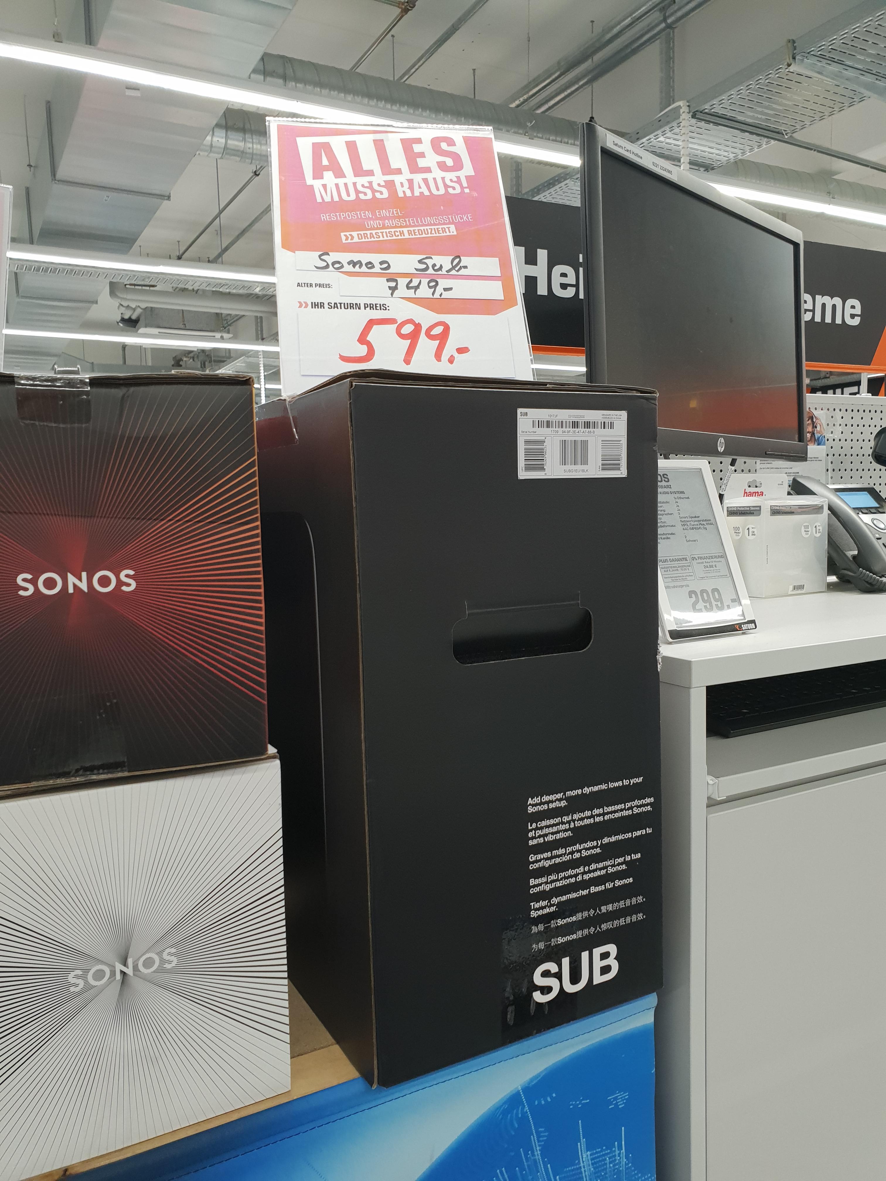 Lokal Saturn Bielefeld Sonos Play:3 199,- € und weitere Sonos Artikel reduziert