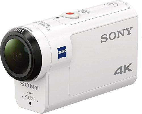 [Amazon Prime Day] Sony FDR-X3000RFDI 4K Action Cam (mit RM-LVR3 Live View Remote Fernbedienung und Fingergriff Aka-FGP1, Carl Zeiss Tessar Optik, GPS, Wifi, NFC) Weiß Travel Kit
