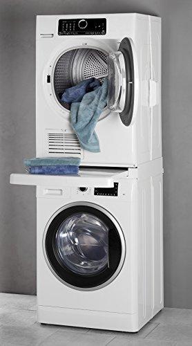 [Amazon, nur Prime] Wpro SKS101 Verbindungsrahmen/Zwischenbaurahmen mit Ablage (Trockner auf die Waschmaschine stellen)