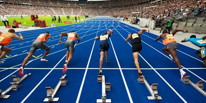 Leichtathletik-EM im Berliner Olympiastadion