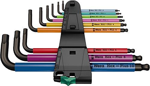 [amazon prime] Wera 05073593001 - 950 SPKL/9 SM N Multicolour Winkelschlüsselsatz, metrisch, BlackLaser, 9-teilig