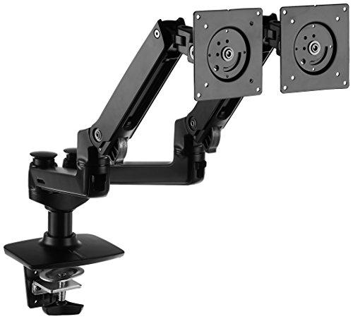 [Primeday] AmazonBasics Tischhalterung / Monitorarm mit 2 Armen für 2 Monitore (Bestpreis!)