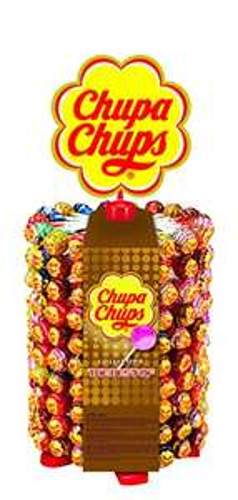 Chupa Chups 180er Lutscherrad plus 20 Lollis gratis |  7 Geschmacksrichtungen [Prime]