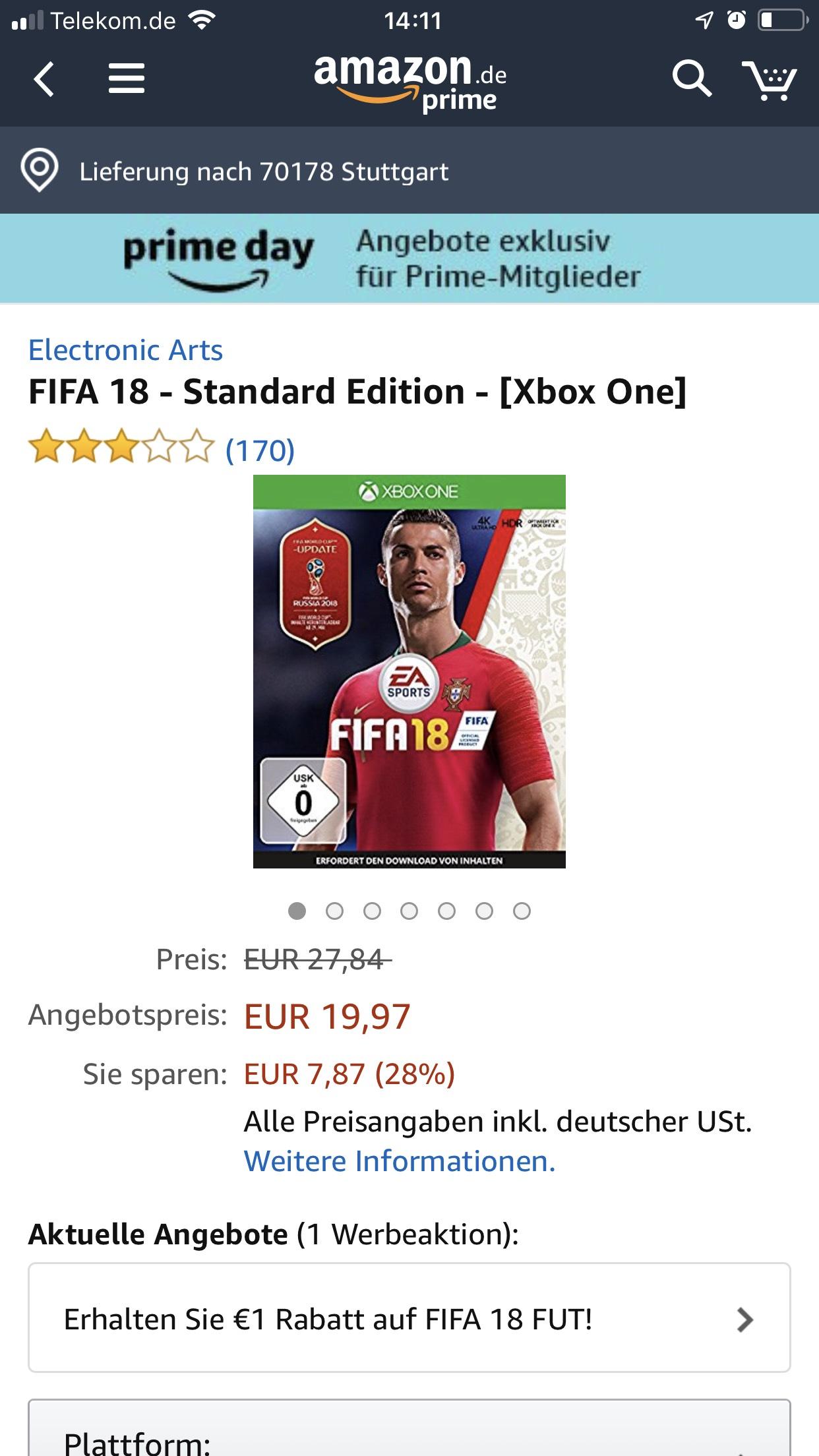 FIFA 18 PS4/Xbox One