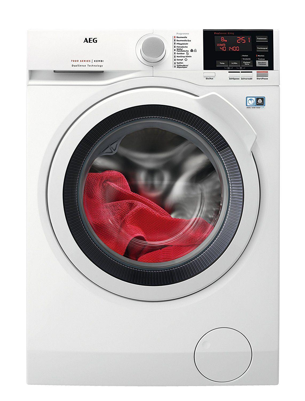 (Amazon Prime) AEG L7WB65684 Waschtrockner/1600UpM/8kg ProTex Schontrommel/Weiß/Waschtrockner mit Material- und Mengenautomatik/Dampfprogramm für weniger Bügelaufwand/Öko Inverter Motor