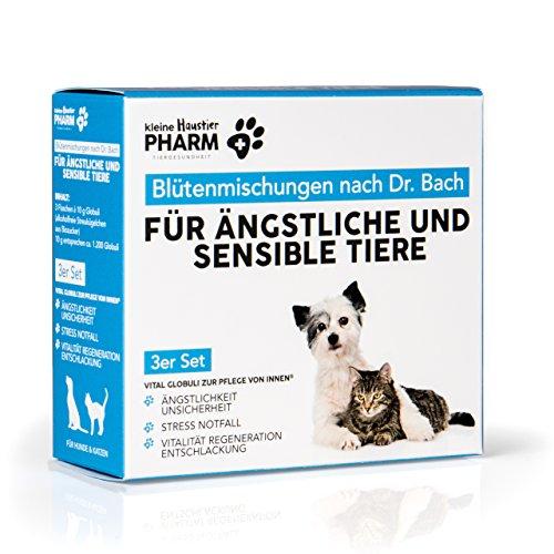 Für Haustierbesitzer: Bachblüten Grundausstattung 3er Box für ängstliche & sensible Hunde & Katzen