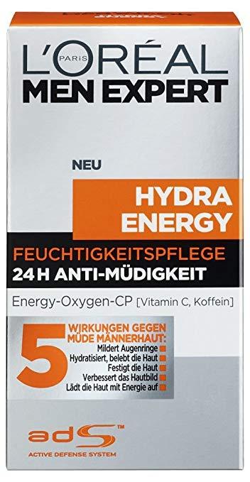 [Amazon Prime Day] L'Oreal Men Expert Hydra Energy 24H Anti Müdigkeit, Feuchtigkeitspflege, 50 ml