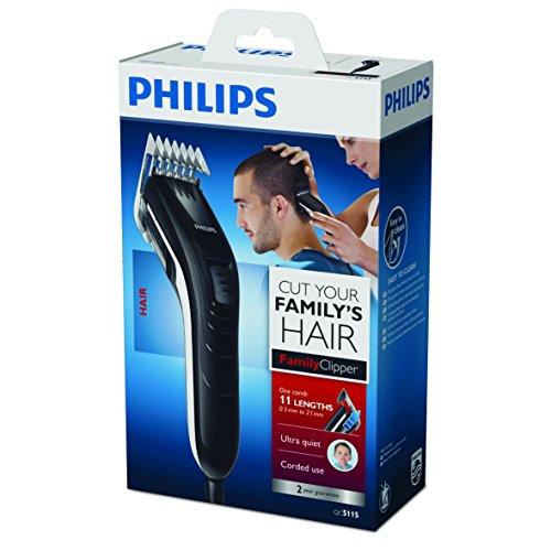 Philips Series 3000 Haarschneider (11 Längen) QC5115/15, Schwarz