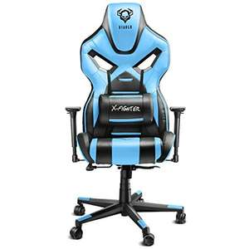 Diablo X-Fighter Gaming Stuhl Bürostuhl, Verstellbare Armlehnen 4D, Air Mesh, Regulierbare Lendenwirbelstütze