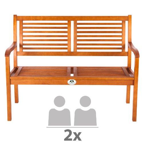 Ultranatura Gartenbank 2er Sitz aus Eukalyptusholz für 36€ - Gutscheinfehler! [Amazon.de]