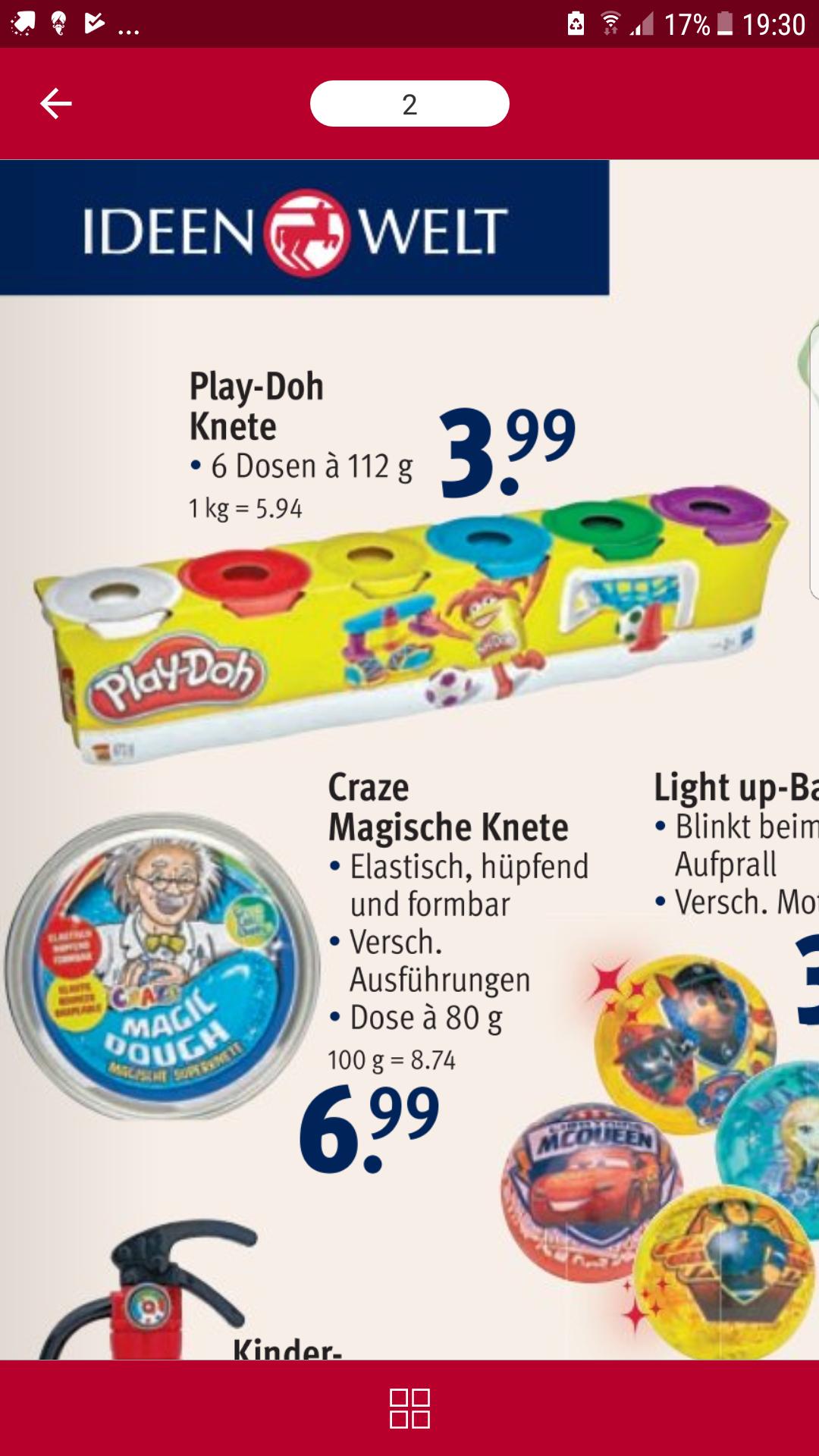 [Rossmann] Hasbro Play-Doh Knete 6er Set Grundfarben bei Rossmann (lokal; durch 10% App Coupon)