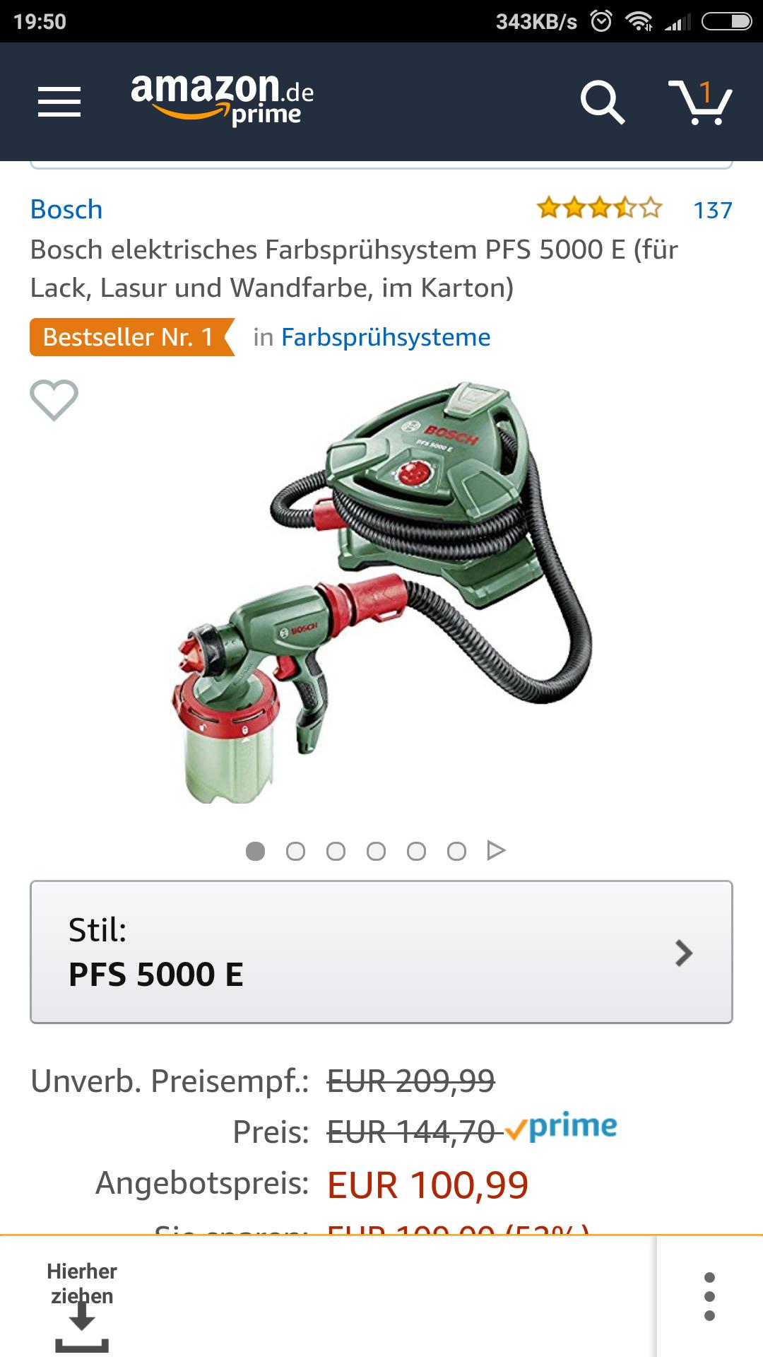 Bosch Farbsprühsystem PFS 500 E
