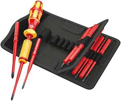 Wera Kraftform Kompakt VDE Torque, VDE-isolierter Bit-Handhalter mit Wechselklingen-Sortiment, 1,2-3,0 Nm, 15-teilig [Amazon / Prime-Day]