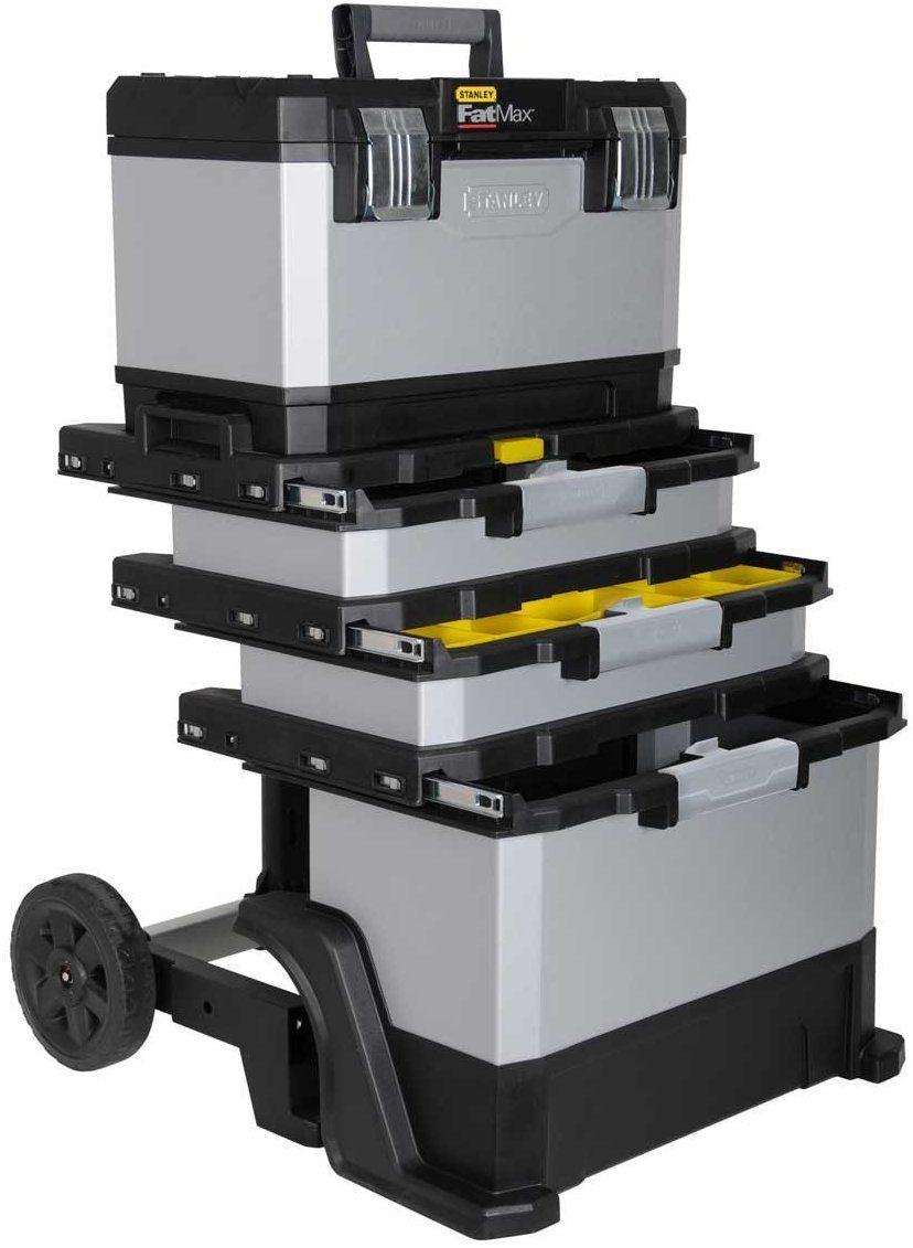[Amazon Prime Day] Stanley FatMax Rollende Werkstatt aus Metall-Kunststoff 1-95-622 – Werkzeugwagen leer