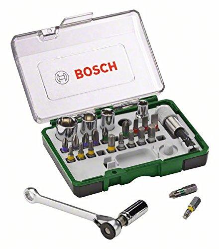 [amazon prime] Bosch Mini Ratschen-Set 27-teilig (Recht-Links-Lauf, PH, PZ, T, HEX, Steckschlüssel, Schnellwechsel-Universalhalter)