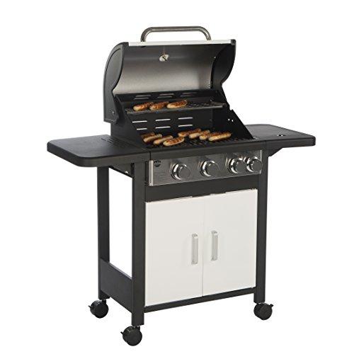 [Prime Day] Barbec-U Profi Gasgrill 3 + 1, Grillwagen