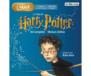 Harry Potter Hörbuch-Gesamtausgabe auf MP3-CD: Rufus Beck 48,37€ & Felix von Manteuffel 57,39€