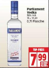 [Edeka] Parliament Vodka 0,7l Flasche für 7,99 €
