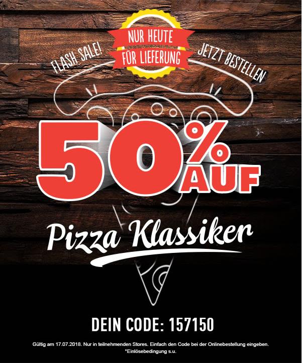 [Dominos] 50% auf alle Pizza-Klassiker (LOKAL Göttingen, Hamburg, Lübeck, etc.)