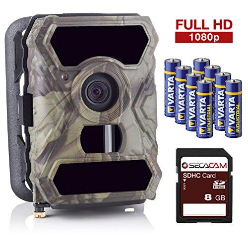[Amazon Prime Day] SecaCam HomeVista Full HD Profi Outdoor Überwachungskamera Wildkamera Nachtsicht 100° Weitwinkel 12 MP 1080P wasserdicht kabellos 0,4 Sekunden Auslösezeit, Bewegungsmelder Fotofalle