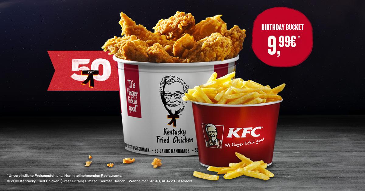 [KFC] 50 Jahre - Birthday Bucket 9,99€