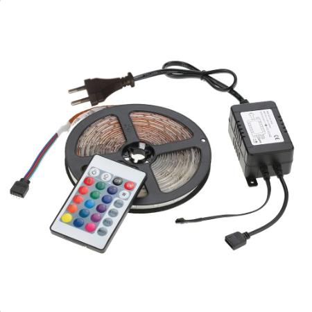 5m LED-Streifen mit 270 2835 RGB-LEDs + Netzteil und Fernbedienung