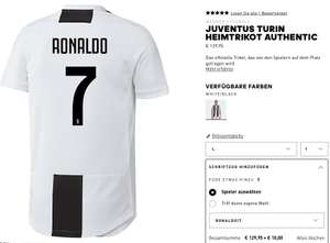 Cristiano Ronaldo CR7 Adidas Juventus Turin Authentic Home Trikot 2018/19