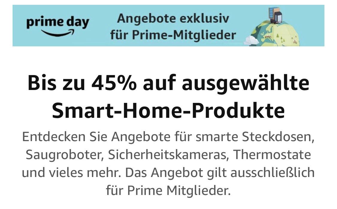 Prime: Bis zu 45% auf ausgewählte Smart-Home-Produkte