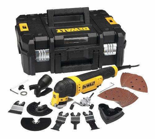 @Amazon Prime DeWalt Multifunktionswerkzeug Universal DWE315KT– Oszillierendes Werkzeug mit Koffer – 37-teiliges Werkzeug Set – 300W