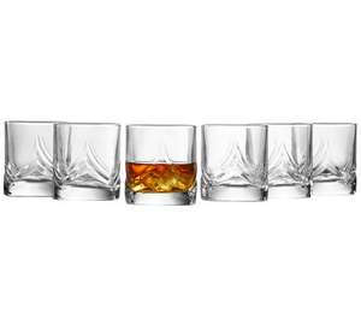 6 Whiskeygläser von Pasabahce (+ 12 Sektgläser + 4 Trinkgläser + Karaffe für 14,91€)