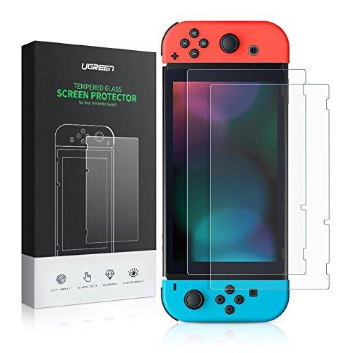 [Prime] Zwei Displayschutzfolien aus gehärtetem Glas für Nintendo Switch