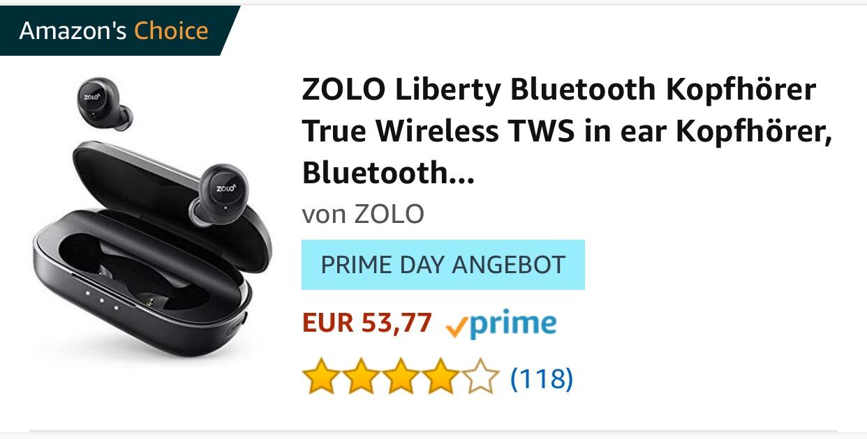 ZOLO Liberty Bluetooth Kopfhörer bei Amazon.de und Zolo Liberty+ Bluetooth Kopfhörer bei Amazon.it