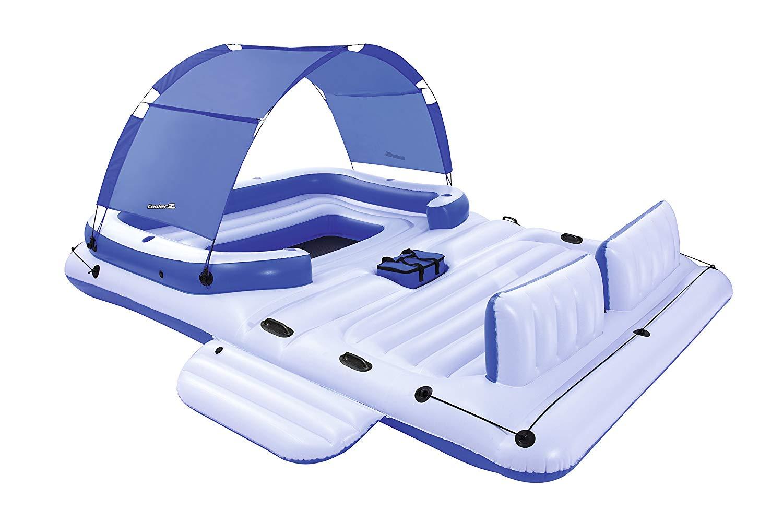 [Toom Baumarkt] Bestway Schwimminsel Luftmatratze Tropical Breeze für 6 Personen (3,89m x 2,74m)