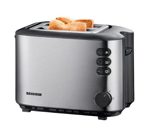 (Prime Day) Severin AT 2514 Automatik-Toaster (850 Watt, Brötchenaufsatz) edelstahl