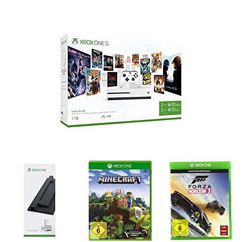 Großes Xbox One S 1TB Bundle für knapp 200€! 3M Gold + 3M Game Pass Bundle inklusive Forza Horizon 3 + Standfuß und Minecraft oder PUBG [Prime Day]