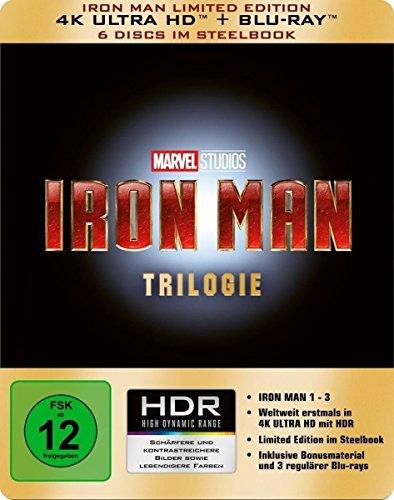Iron Man-Trilogie Steelbook Limited Edition (4K Ultra HD Blu-ray) für 41,97€ (Amazon Prime Blitzangebot)