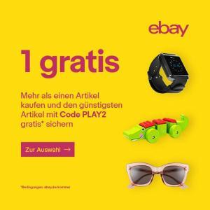 [eBay] Günstigsten Artikel gratis bei Kauf von mindestens zwei Artikeln auf der Aktionsseite