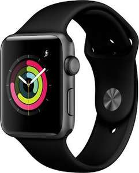 Apple Watch Series 3 (42mm) GPS mit Sportarmband spacegrau/schwarz