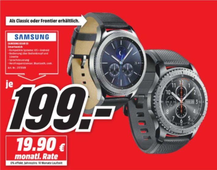 [Regional Mediamarkt Nordhausen] Samsung Gear S3 Classic oder Frontier für je 199,-€