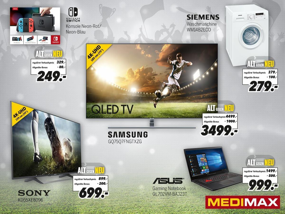 (Lokal Hannover) Nintendo Switch bei Medimax bei Abgabe eines beliebigen Altgerätes