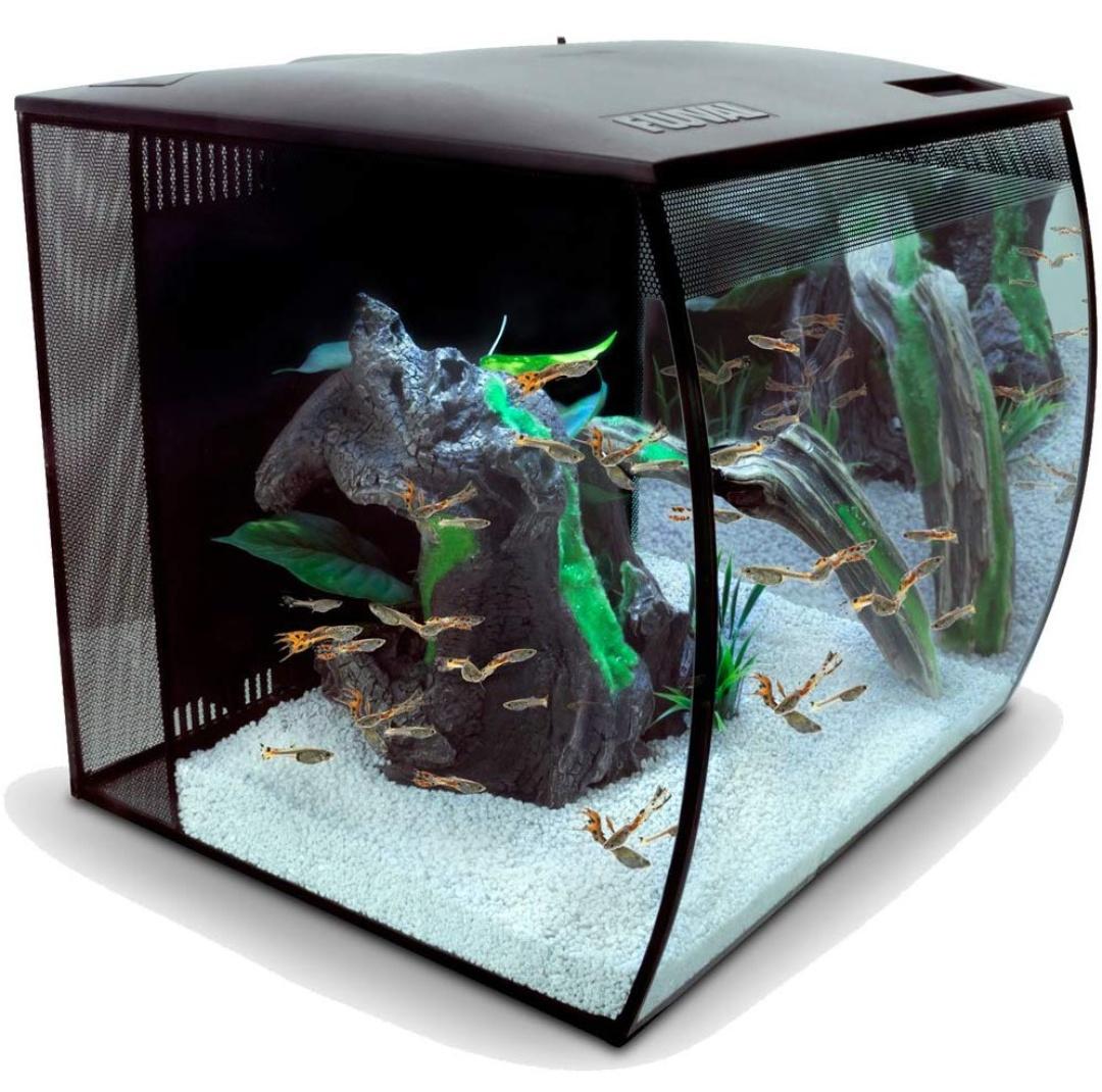 Nano Aquarium Komplettset FLUVAL Flex 57 l mit mehrfarbiger LED-Beleuchtung, Filter, Pumpe, schwarz