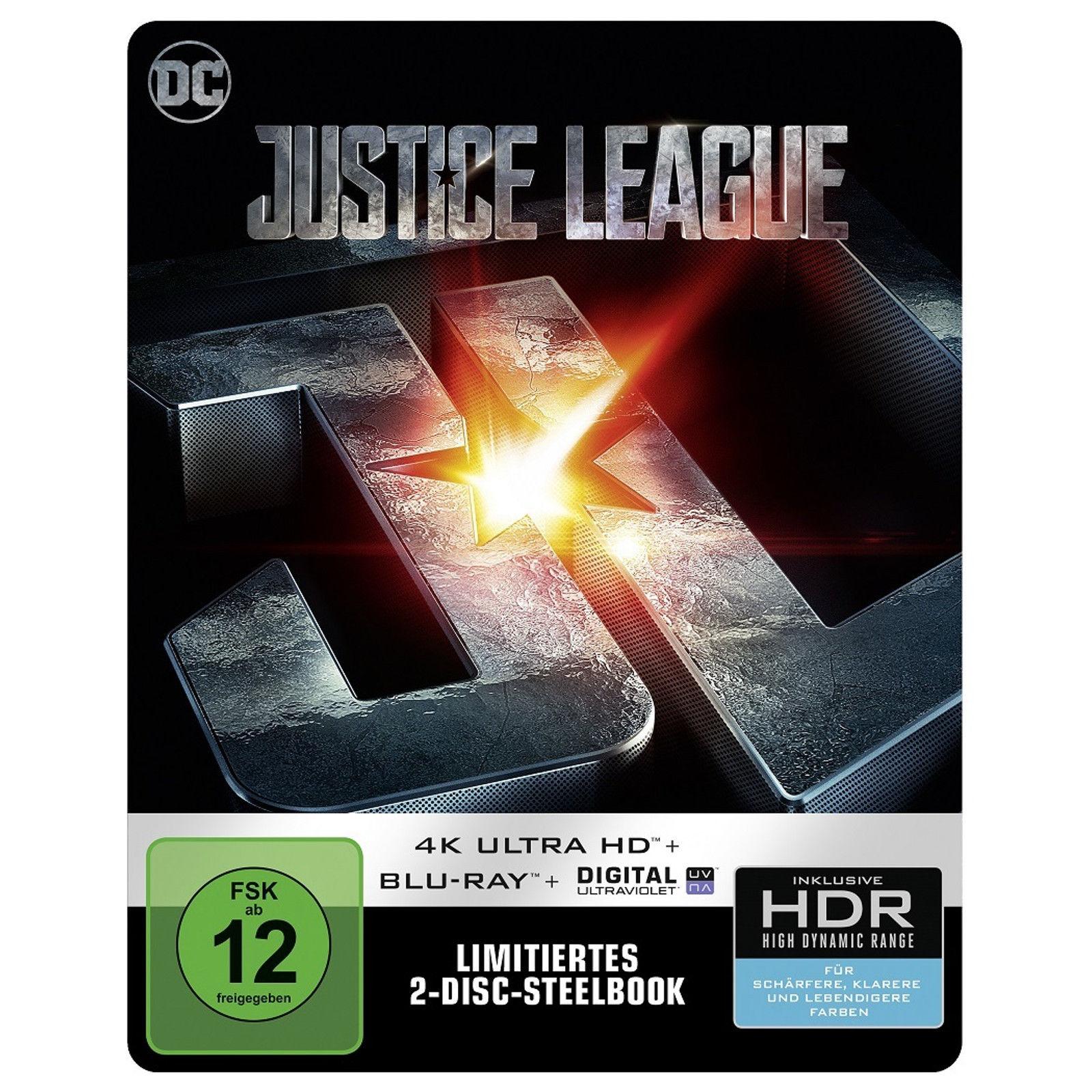 Justice League Limited Steelbook Edition (4K UHD + Blu-ray + Digital HD) für 24,99€ versandkostenfrei (Saturn)