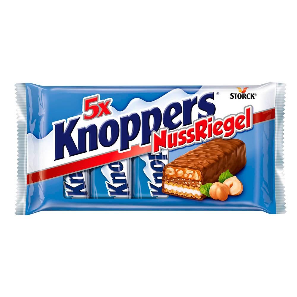 Bundesweit REWE Knoppers Nussriegel 5er Pack  und Knoppers 8er Pack je 1,59 Euro