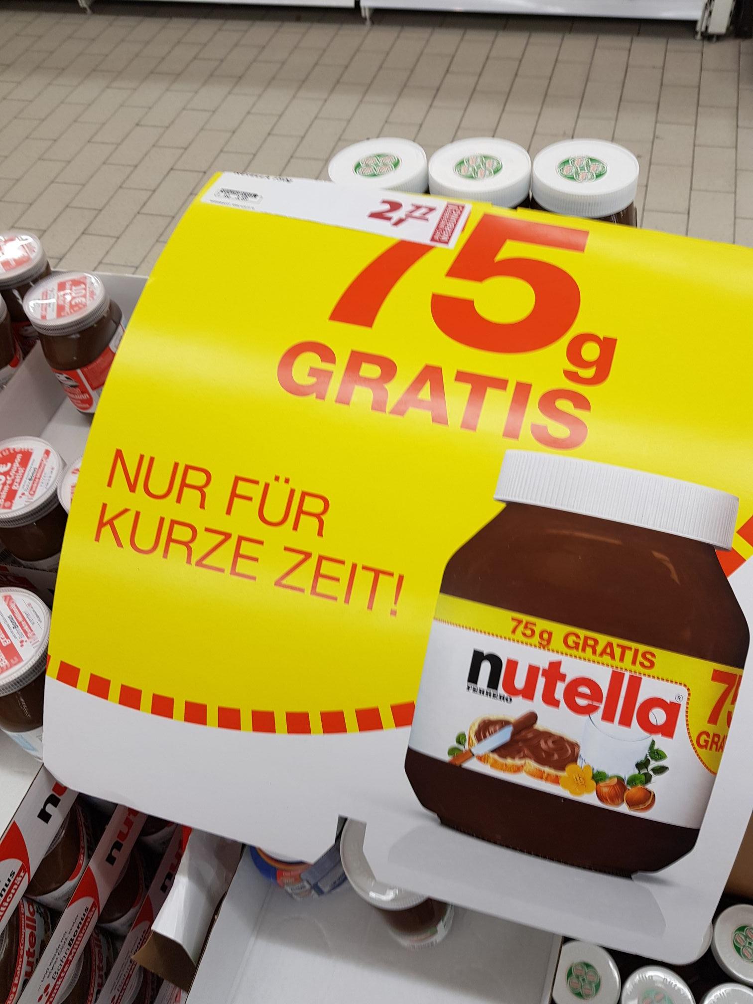 [Real]Nutella 750g Glas+75g gratis