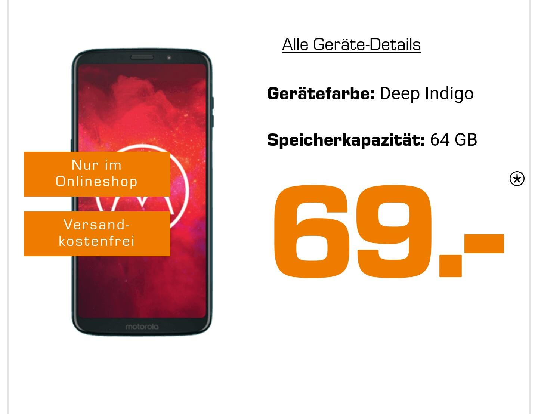 Motorola Z3 Play mit 4GB LTE Allnet-Flat im O2 Netz (14,99€/M)